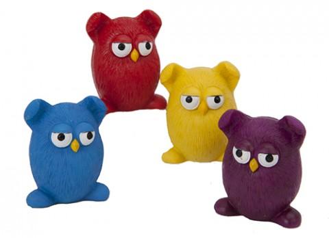 Egg shaped comical owls