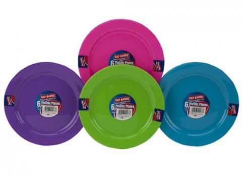 Plastic 18cm plates 6 pack