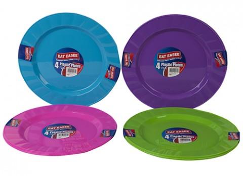 Plastic plates 23cm 4 pack