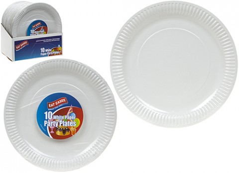 10 pack white paper plates