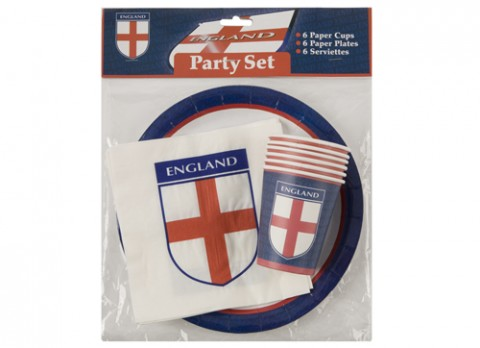 18pc england party set