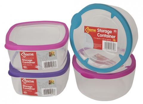 2.1l square-2l round  storage container