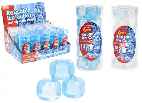 18pc re-usable ice cubes