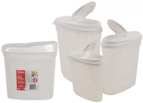 Nest of plastic food container 3pc