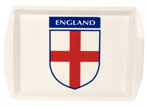 16x11 inch  plastic england design drinks serving tray