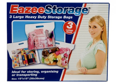 Heavy duty storage bags 38 x 38cm 3 pack