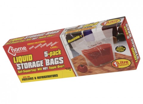 Resealable liquid bags 5 pack