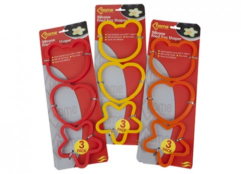 3 pc asst silicone fried egg shaper