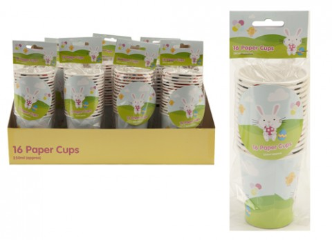 16pk 9oz summer time paper cups