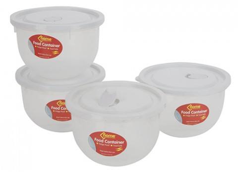 7.6x5.25 inch  lrg round container w-vented colour lid