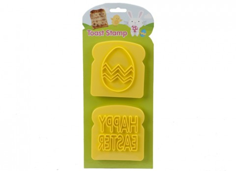 Happy easter-egg toast stamp