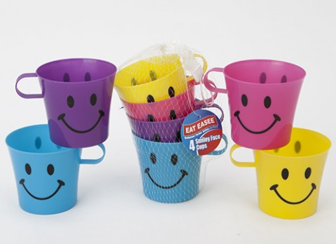 4pc kids conical cups