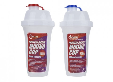 Protein drink mixing cup