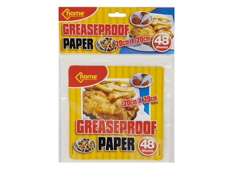 48pc 20x20cm cut square grease proof paper