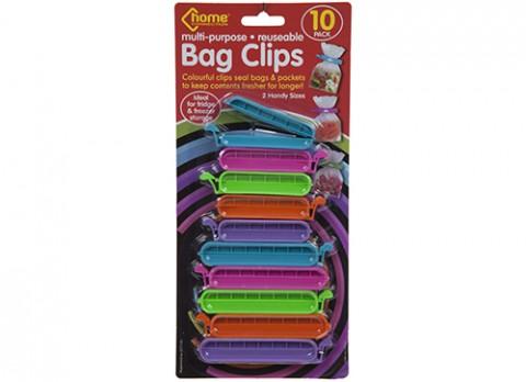 10pce 2 asst size bag clips