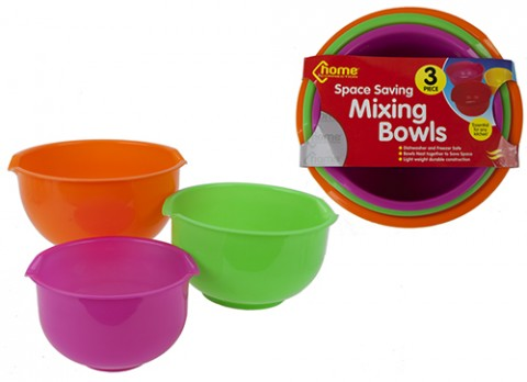 3pce asst col nested mixing bowls