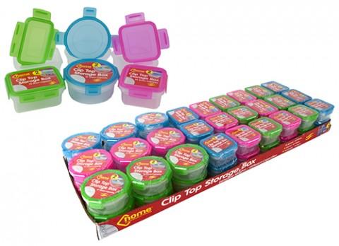 2pk asst shape clip top storage boxes