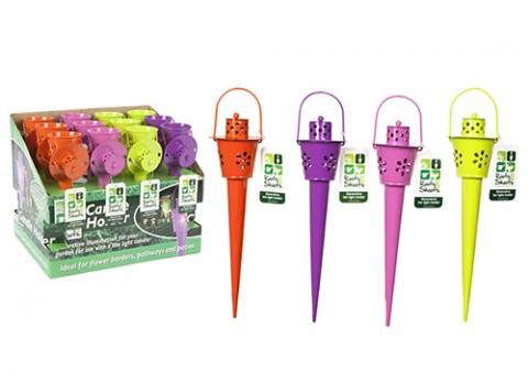 12 inch  cone shape garden stake t-lite holder