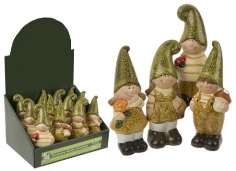 Garden elves standing