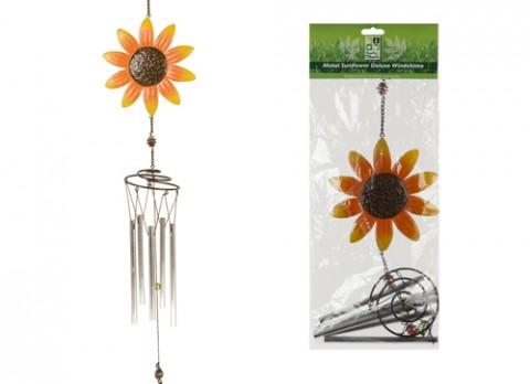 20 inch h metal sunflower deluxe windchime