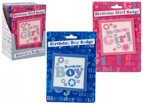 Large size birthday boy-girl badge