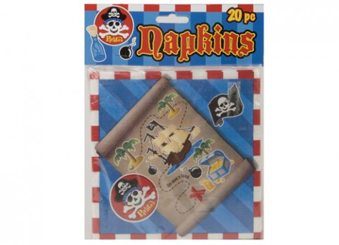 20 piece 2 ply pirate design napkins