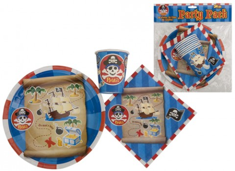 24 piece pirate design party pack
