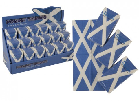 Scotland pocket tissues 10 pack