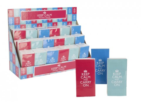 10 pk keep calm pocket tissues