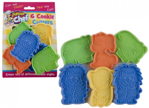 Junior chef animal design cookie cutters 6  piece