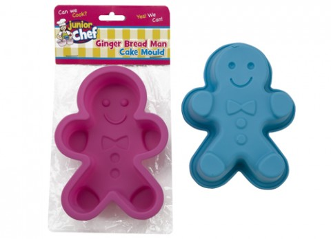 Junior chef childrens silicone gingerbread  man cake mould