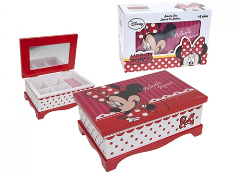 Minnie red jewellery box with mirror