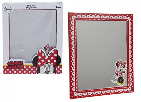 Minnie red wooden mirror