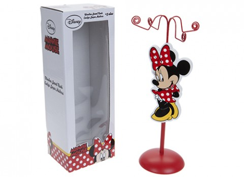 Minnie red wooden jewellery rack