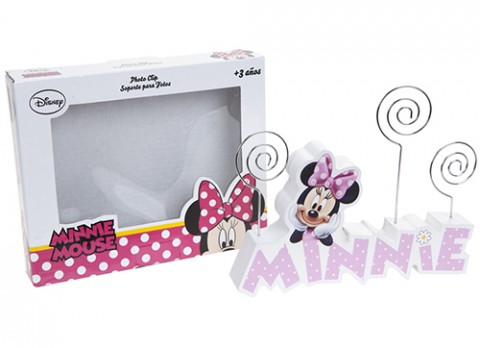 Minie pink wooden photo holder