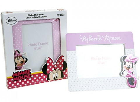 Minnie pink wooden picture frame