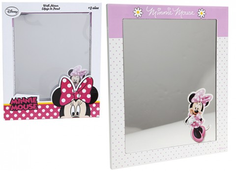 Minnie pink wooden mirror