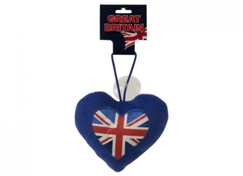Union jack heart on sucker 6 inch