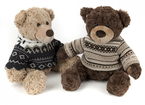 12 inch  knitted sweater bear