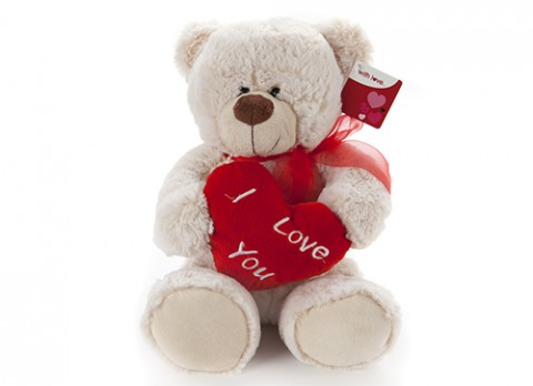 12 inch  henry luxury bear with love heart