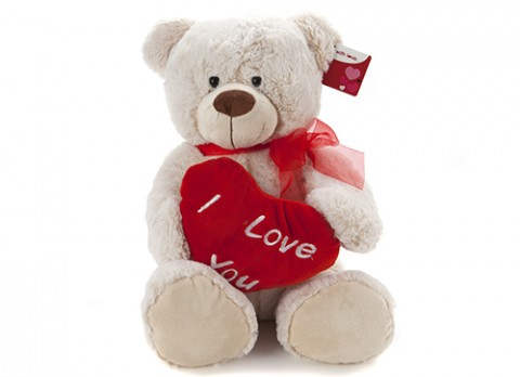 16 inch  henry luxury bear with love heart