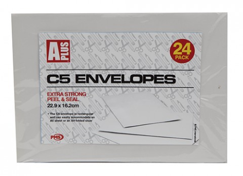 C5 white envelopes 22.9 x 16.2cm
