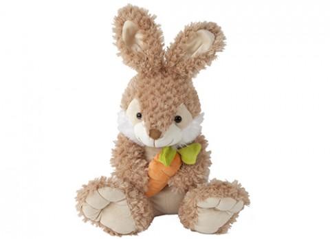 12 inch  jasper rabbit with carrot