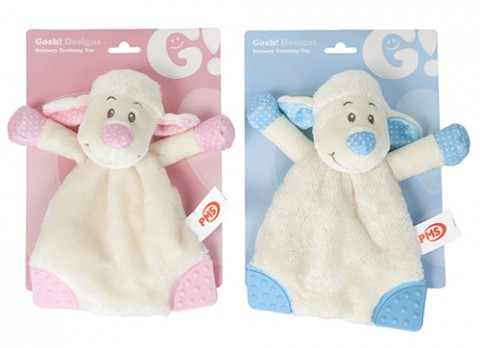 9 inch  baby lamb teething toy