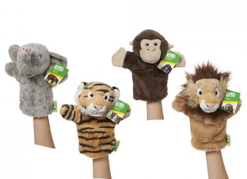 ANIMAL PLANET WILDLIFE PUPPETS  10""
