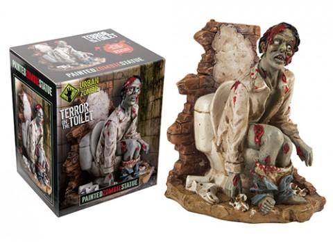 18cm urban zombie figurines  zombie on toilet