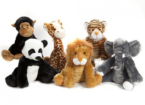 20 inch  luxury wildlife playground range 6 assorted