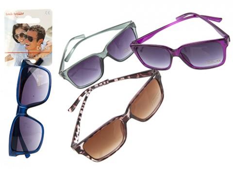 Unisex classic style plastic sunglasses