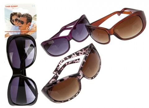 Ladies fashion plastic sunglasses