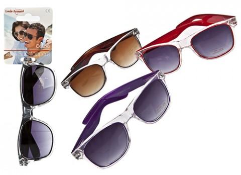 Unisex 2 tone plastic sunglasses